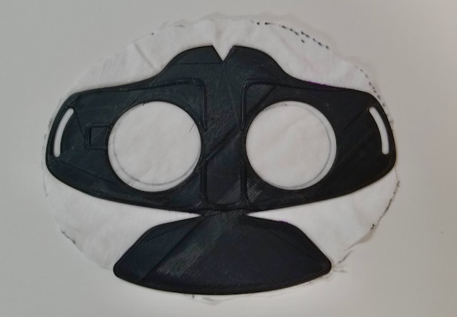 Glue mask to fabric