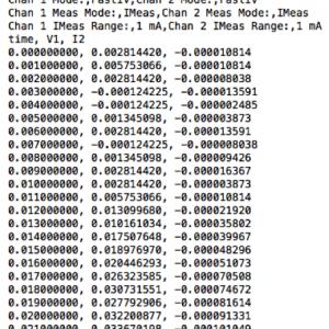 Memristor Raw Data