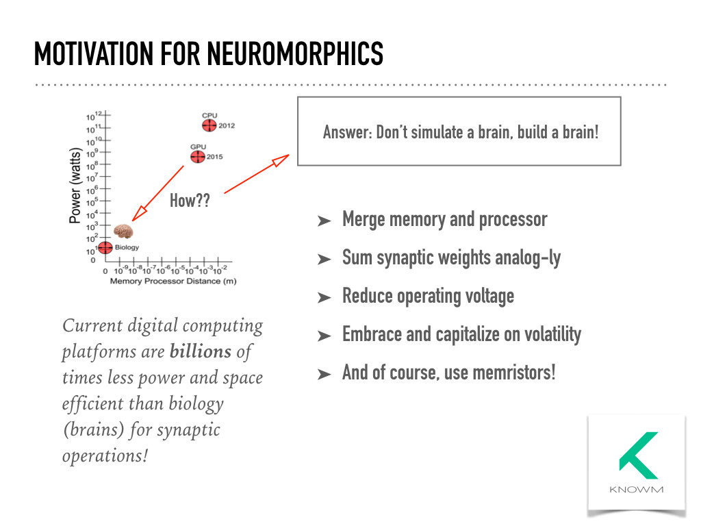 Motivation For Neuromorphics