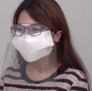 Paper Towel & Plastic Shield Mask