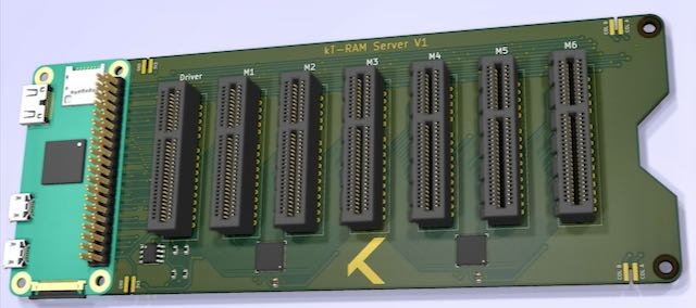 3D Rending of kT-RAM Server Main Board
