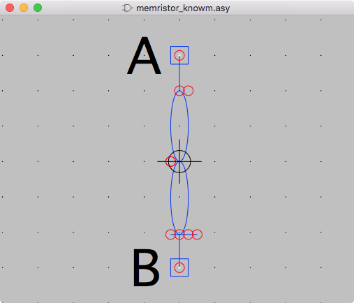 ltspice knowm memristor symbol