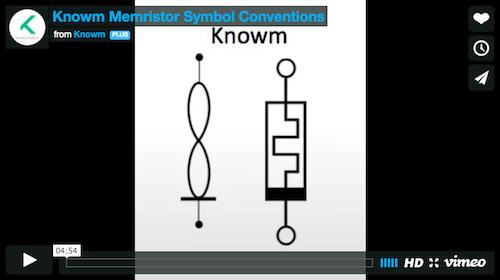 Memristor Symbol Conventions