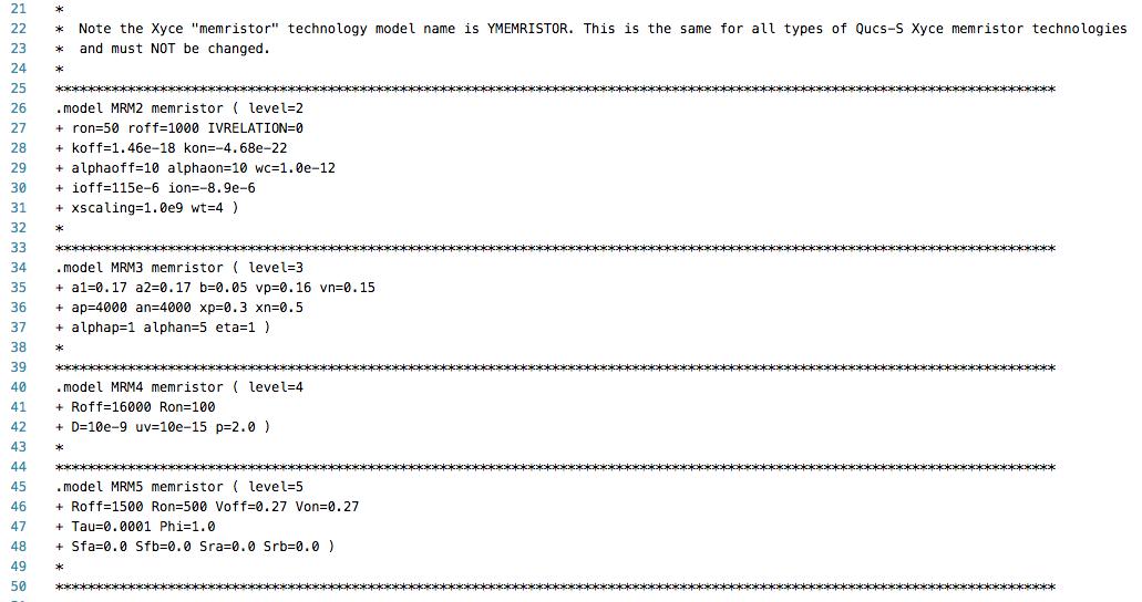 qucs_lib_xyce_memristor_tech
